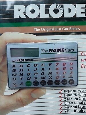 New Rolodex The Name Card Electronic Address Book Holds 75+ Names Numbers
