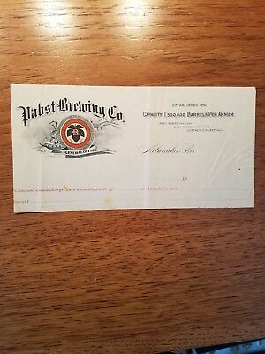 Pabst Brewing Co General office Milwaukee Wisconsin paper