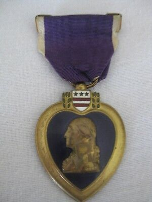 32nd Div. WW1 Officially Engraved Purple Heart Medal W/ Partial Box + Paperwork