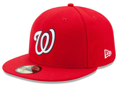 New Era Washington Nationals GAME 59Fifty Fitted Hat (Red) MLB Cap