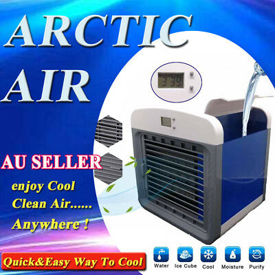 NEW Arctic Air Conditioner Portable Fan Personal Desk Air Cooler Humidifier F1