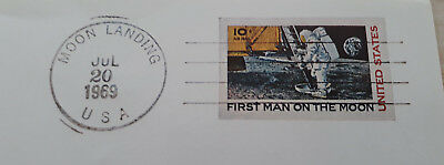 Faksimile | First man on the moon | Probedruck | guter Zustand | Briefmarke