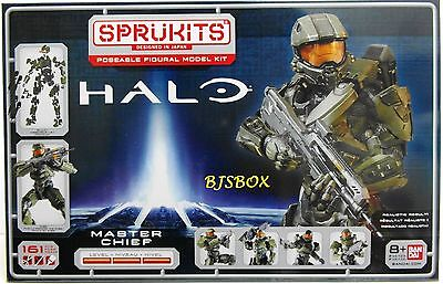 Sprukits Halo Master Chief Poseable Figural Model Kit 161 Pcs Level 3 New NIB