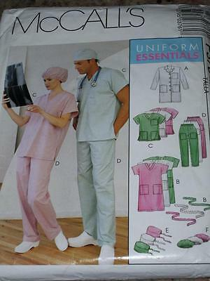 McCALL'S P376 or 9123-UNISEX MEDICAL-NURSE-SCRUBS-DOCTOR UNIFORM PATTERN S-LG FF