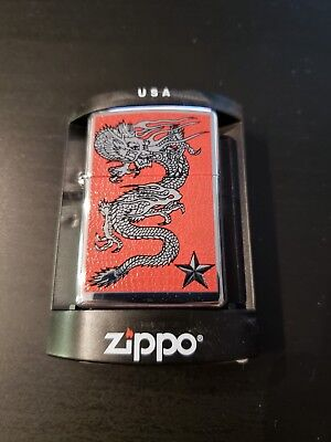 Zippo Red Dragon High Polished Chrome  New Mint In Box