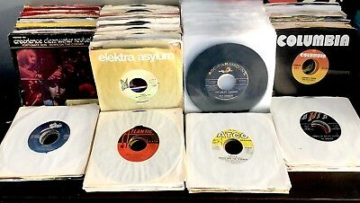 "Lot Of 300 45 rpm 7"" JUKEBOX COLLECTION 50's 60's 70's 80's Vinyl Record Singles"