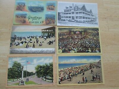 12 Early OCEAN GROVE NJ Postcards - BUILDING - PARK - BEACH - HOTEL - ETC
