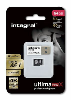 Fast 64gb Micro-Sdxc Clase 10 Uhs-I U3 95mb/S +Lector . Ideal 4k, Full HD Vídeo