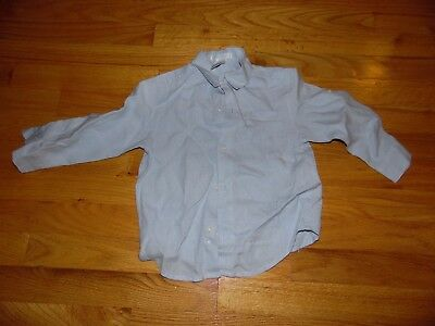 Boy's Janie and Jack linen Shirt Sz 2T Blue Long SLeeve EXC COND