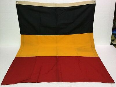 "Vintage Flag Of Belgium Cotton Bunting 36"" x 30"" WW11 Era or Prior Sewn Gommets"
