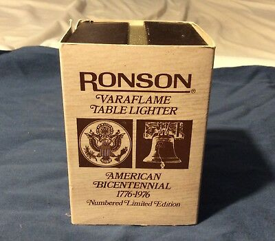Vintage Ronson Lighter Bicentennial Limited Edition Table Lighter
