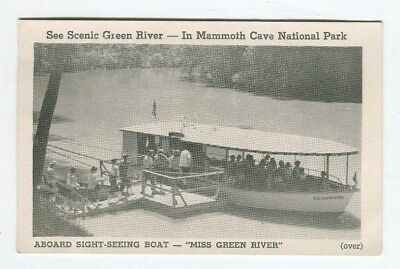 MISS GREEN RIVER Mammoth Cave National Park BOAT Moonlight Cruise KENTUCKY ky