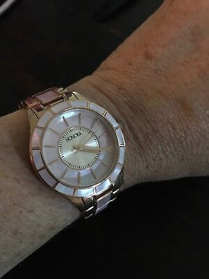 Ladies Honora Watch Rose Gold With Pink Mother Of Pearl Face And Accent On Band