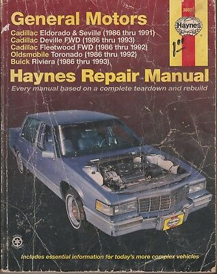 general motors haynes repair manual caddy olds buick 80s 90s rh picclick com 1998 cadillac eldorado repair manual 1998 cadillac deville service manual pdf