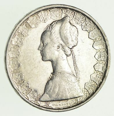 Roughly Size of Half Dollar - 1960 Italy 500 Lire - World Silver Coin - 11g *035