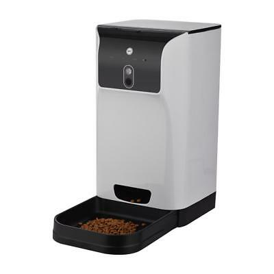 Food Dispenser 6L Pet Automatic Feeder Dog Camera Voice Recorder Wifi Connection