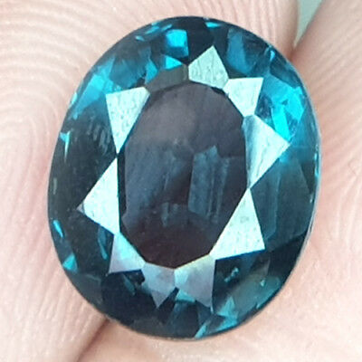5.04 Cts Untreated Clean Burmese Chrome Green Blue Natural Spienl