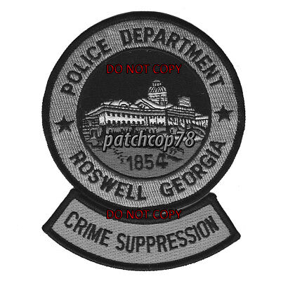Roswell Police Department Crime Suppression Patch Georgia