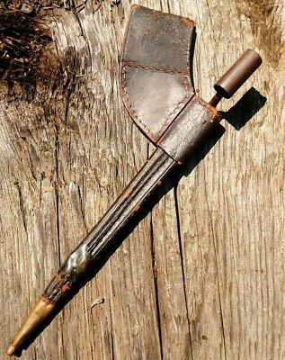 Original Us Civil War Miniture Childs Bayonet And Leather Scabbard Union Or Csa
