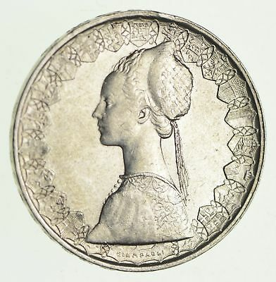Roughly Size of Half Dollar - 1960 Italy 500 Lire - World Silver Coin - 11g *997