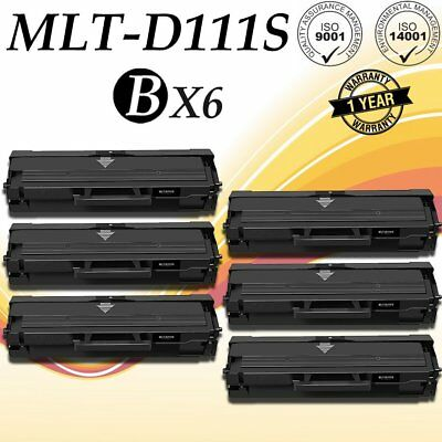 6 PK MLT-D111S MLTD111S Toner Cartridge For Samsung 111S Xpress M2020W, M2070FW
