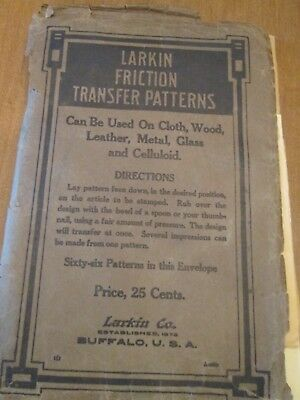Larkin Friction Transfer Patterns-7 sheets--Patented June 3, 1913.