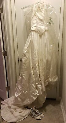 Wedding Dress, By Mary Import Bridal Off White Size 8 With Train