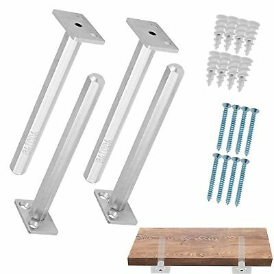Floating Shelf Bracket (4 pcs Galvanized Steel) - Blind Shelf Supports - Hidden