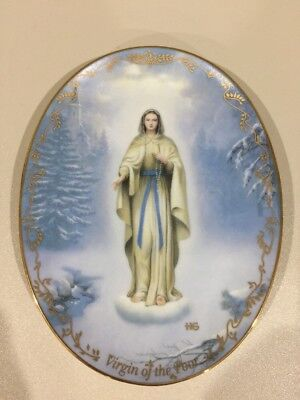 The Bradford Exchange Virgin of the Poor Plate Visions of Our Lady Preowned