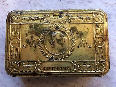 Brass Wwi Princes Mary Christmas Box With Some Original Contents