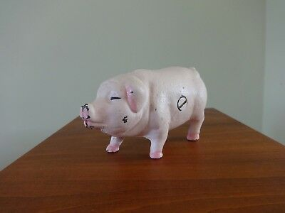 Vintage Cast Iron Pig Coin Bank