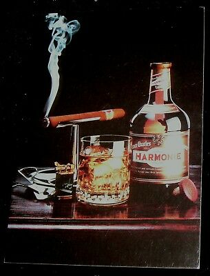 Vintage Collectible Postcard for Drambuie Liqueur Liquor Harmonie Smoking Cigar