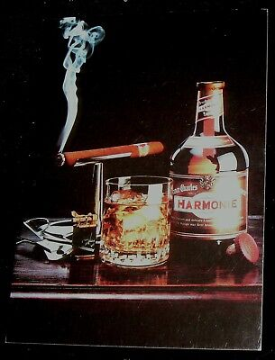 Retro 90's Collectible Postcard 4 Drambuie Liqueur Liquor Harmony Smoking Cigar