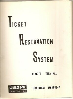 Control Data Corporation Ticket Reservation System technical manual