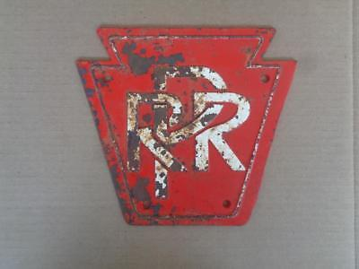 Cast Iron Pennsylvania Railroad Sign Prr Keystone Train Sign Plaque