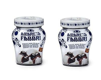 Fabbri Amarena Cherries In Syrup, 8.1 Ounce Pack of 2