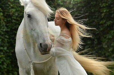Digital Image Picture JPG Desktop Wallpaper Gorgeous Princess with Royal Horse