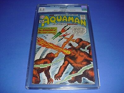 Aquaman #1 CGC 5.5 w/ OW PAGES from 1962! 1st Solo Book DC Comics not CBCS