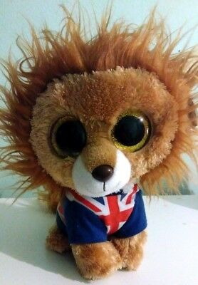 "UK EXCLUSIVE TY BEANIE BOOS – HERO the 9"" LION (MEDIUM) with ORIGINAL TAG"