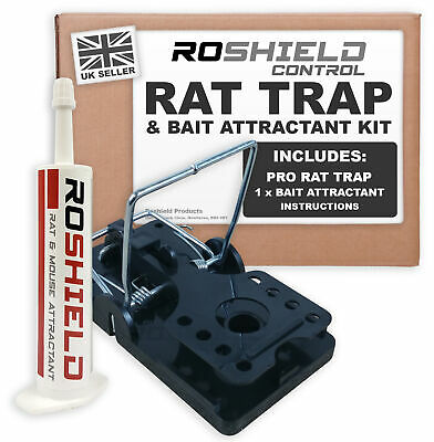 Roshield Professional Rodent Rat Control Trap with Powerful Bait Attractant