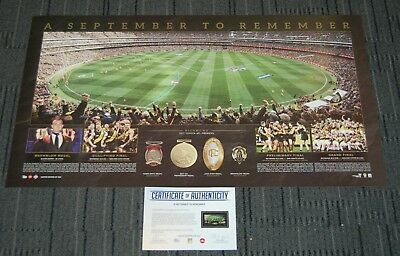 Richmond Tigers 2017 Afl Premiers A September To Remember Official Afl Print