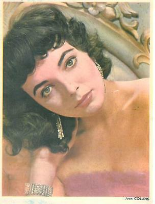 Joan COLLINS Grande Carte Postale 18x24 Colorisé