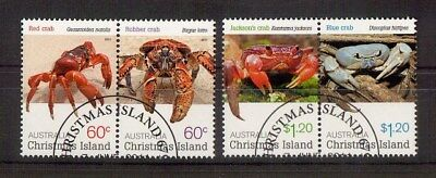 M1806sbs Christmas Island 2011 Crabs CTO Set of 4 Stamps