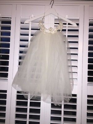 Vintage 1960's Wedding Veil Short Style With Flowers+