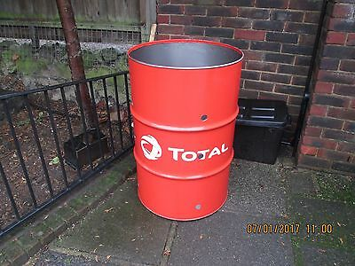 Garden Waste Fire Bin 210L Large Leaves Burner Incinerator Dustbin Bonfire Drum