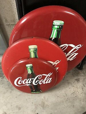3 Cartelli Bottoni Coca-Cola