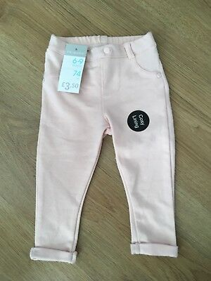 Girls Pink Trousers 6-9m