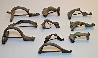 LOT OF 10 ANCIENT ROMAN FIBULA BROOCHES - COMPLETE! 1st - 4th CENTURY!