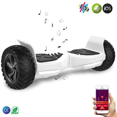 """GeekMe Gyropode  8.5"""" Overboard Electrique Scooter Tout Terrain Bluetooth App"""