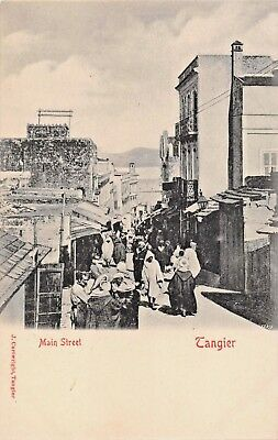 TANGIER MOROCCO~ MAIN STREET-J CARTWRIGHT PHOTO POSTCARD 1900s